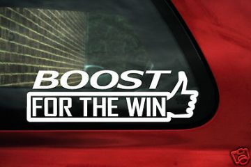 "2 x Aufkleber Sticker ""Boost For The Win"" Ideal Für Turbo Auto Lastwagen"